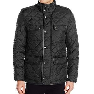 Cole Haan Men's Nylon Quilted 4 Pocket Jacket XL
